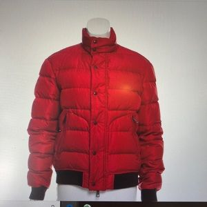 Burberry Brit Quilted Down Coat (Red)